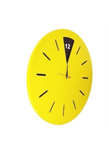 Liva Ahşap Ahşap Duvar Saati - 50X50 Cm Sarı